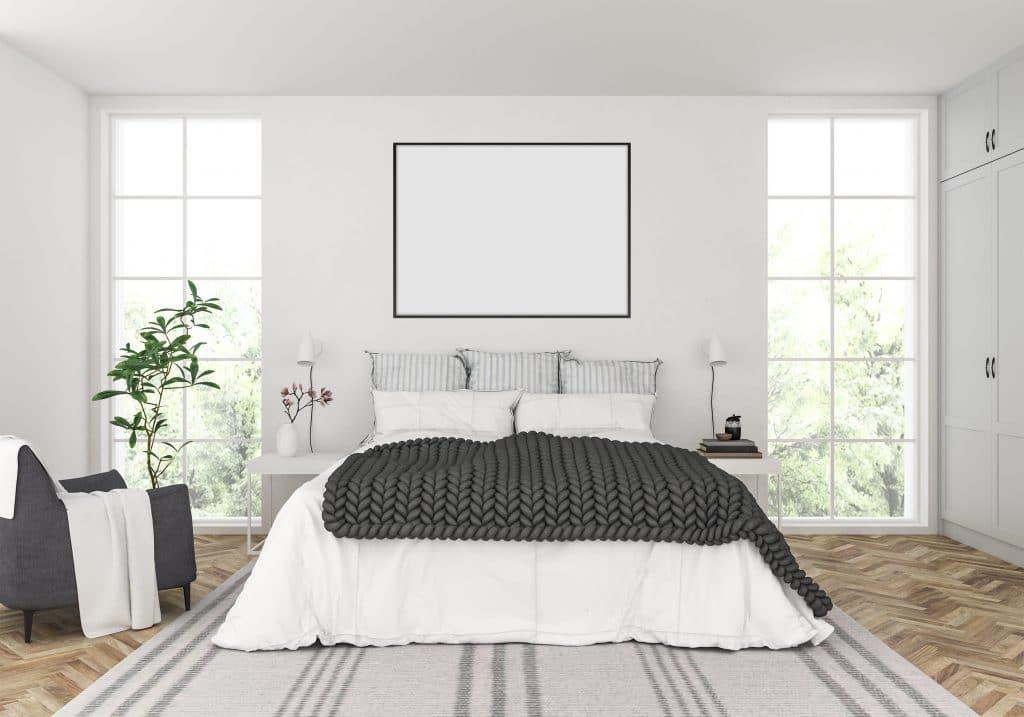 Une chambre à coucher relookée grâce à un projet de home staging